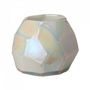 Suport alb din sticla pentru lumanare 10,5 cm Luster Pols Potten