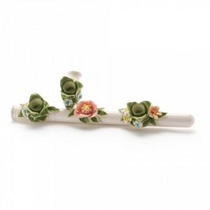 Suport alb pentru lumanari 40x13cm Flower Attitude The Spontoon Seletti