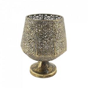 Suport auriu din alama pentru lumanare 17 cm Betos Santiago Pons