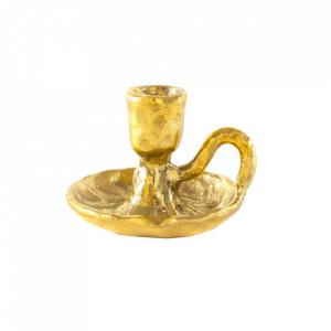 Suport auriu din alama pentru lumanare 7 cm Fingers Seletti