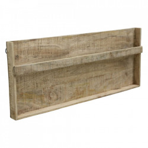 Suport de perete pentru reviste din lemn de mango si fier Vintage Raw Materials