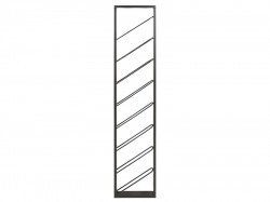 Suport din fier negru pentru sticle 36x6x160 cm Otma Santiago Pons