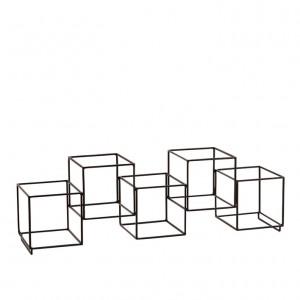 Suport din metal negru pentru sticle 18x13x55 cm Madam Stoltz