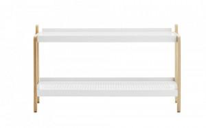 Suport incaltaminte alb/maro din otel si lemn de frasin Sko Normann Copenhagen