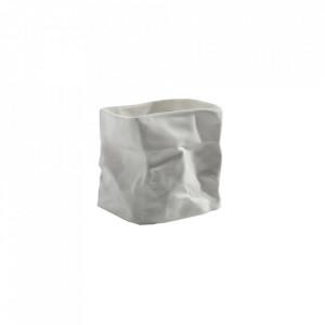 Suport lumanare alb din portelan 7 cm Paperbag Serax
