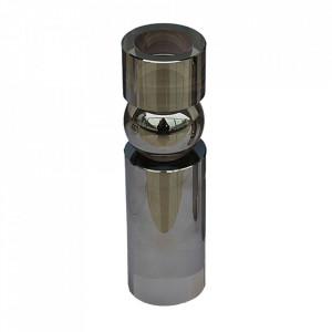 Suport lumanare argintiu din sticla 15 cm Facanda Santiago Pons