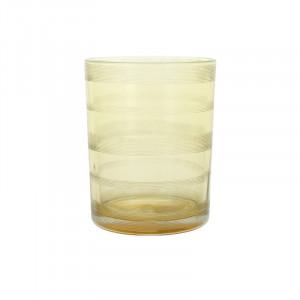 Suport lumanare galben din sticla 13 cm Moeshe Lifestyle Home Collection
