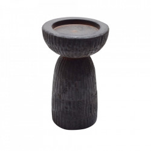 Suport lumanare maro din lemn de mango 19 cm Folko Woood