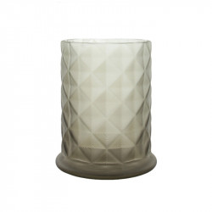 Suport lumanare maro din sticla 17 cm Moswen Lifestyle Home Collection