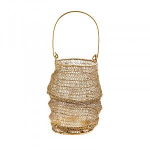 Suport maro alama din fier si sticla pentru lumanare 22,5 cm Lena Madam Stoltz