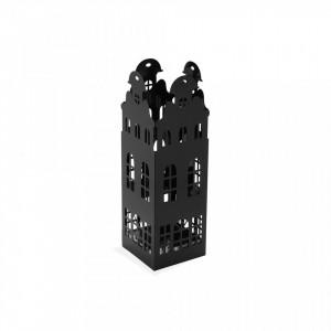 Suport negru din metal pentru umbrela 49 cm Black Building Versa Home