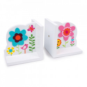 Suport pentru carti multicolor din lemn Flower
