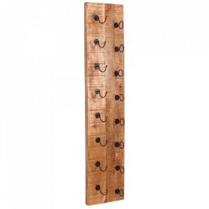 Suport sticle maro din lemn de mango si metal Airman Tall Sit Moebel