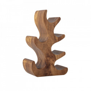 Suport sticle maro din lemn de salcam Barbel Creative Collection