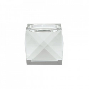 Suport transparent din cristal 9 cm pentru lumanare Pillar Candles Nordal