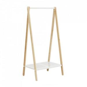 Suport umerase alb din lemn de frasin si otel Toj S Normann Copenhagen