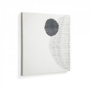 Tablou alb din lemn si hartie 50x50 Large Prism La Forma