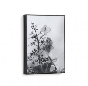 Tablou alb/negru din fibre de lemn 30x40 Calantha Small La Forma