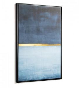 Tablou albastru/auriu din lemn 60x90 cm Wrigley Blue Kave Home