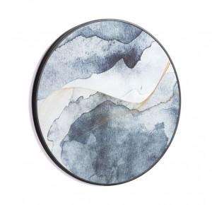 Tablou albastru din lemn 60 cm Jacobsen Kave Home
