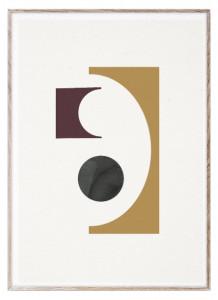 Tablou cu rama din lemn de stejar 50x70 cm Shapes of Colour 01 Paper Collective