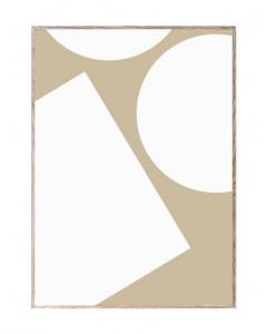 Tablou cu rama din lemn de stejar Simple Forms I Paper Collective