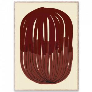 Tablou cu rama din lemn de stejar Stacked Lines 01 Paper Collective
