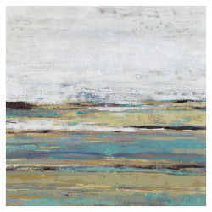 Tablou multicolor din canvas si lemn 80x80 cm Raisa Ter Halle