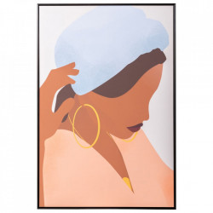 Tablou multicolor din canvas si lemn de pin 82x122 cm Quilly Ixia