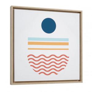 Tablou multicolor din canvas si MDF 50x50 cm Gelsina Circle Kave Home