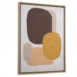 Tablou multicolor din canvas si MDF 50x70 cm Gara Grey Kave Home