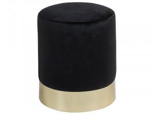 Taburet din lemn de pin 30 cm Vikia Black Santiago Pons