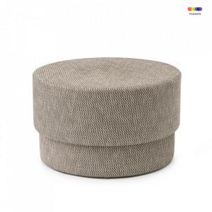 Taburet maro rotund din textil 70 cm Silo Dusty Brown Normann Copenhagen