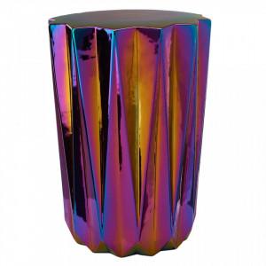 Taburet multicolor din ceramica Oily Pols Potten