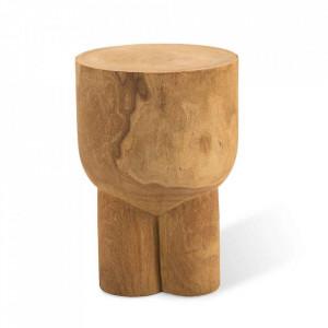 Taburet rotund maro din lemn 30,5 cm Pile Pols Potten