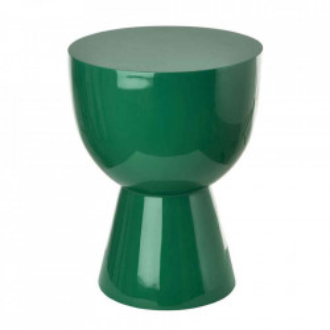 Taburet rotund verde din poliester lacuit 35,5 cm Tam Tam Pols Potten
