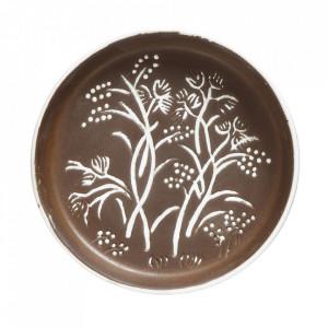 Tava decorativa rotunda maro din teracota 14 cm Iosa Creative Collection