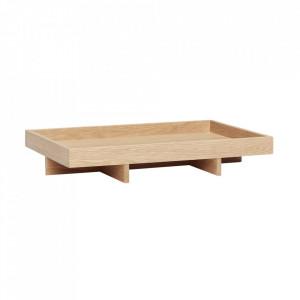 Tava dreptunghiulara maro din lemn 34x46 cm Oak Tray Hubsch
