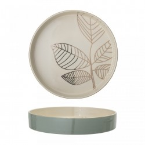 Tava rotunda albastra/alba din ceramica 30 cm Rio Bloomingville