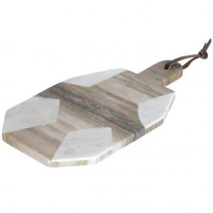 Tocator alb/gri din marmura 20x35 cm Vanina Kave Home