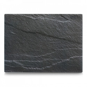 Tocator dreptunghiular gri antracit din sticla 30x40 cm Slate Zeller