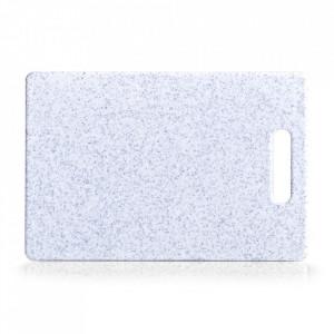 Tocator dreptunghiular gri din plastic 20x30 cm Granite Look Zeller