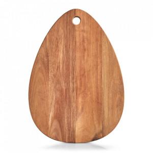 Tocator oval maro din lemn 29x40 cm Karina Zeller