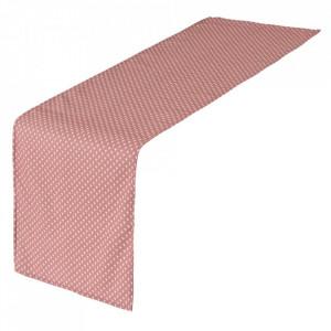 Traversa de masa roz din poliester 45x150 cm Luz Luna Unimasa