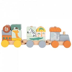 Trenulet din lemn Safari Small Foot