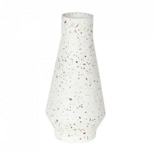Vaza alba din beton si terrazzo 20 cm Muzz Zago