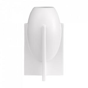 Vaza alba din ceramica 28 cm Ovo Versmissen