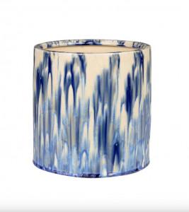 Vaza albastra/alba din ceramica 21 cm Ocean Low Versmissen