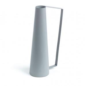 Vaza gri din metal 41 cm Path La Forma