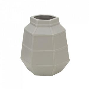 Vaza gri din portelan 19 cm Lumiere Mauro Ferretti